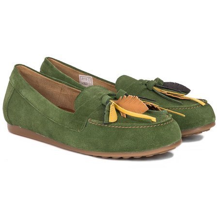 Maciejka 04494-09-00-5 Green Flat Shoes