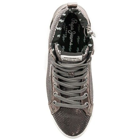 Pepe Jeans PLS30770 952 Silver Trainers