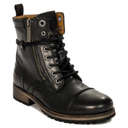Pepe Jeans PLS50215-999 Black Lace-up Boots