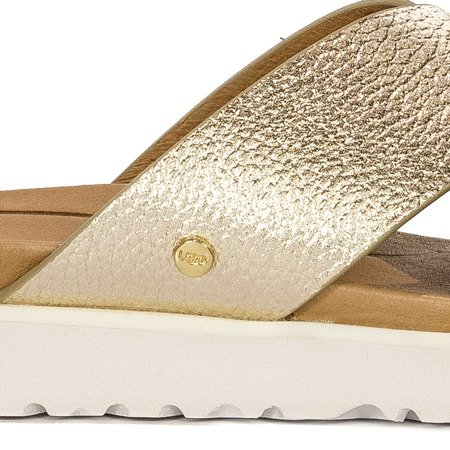 UGG 1102911 KARI METALLIC GOLD Slides