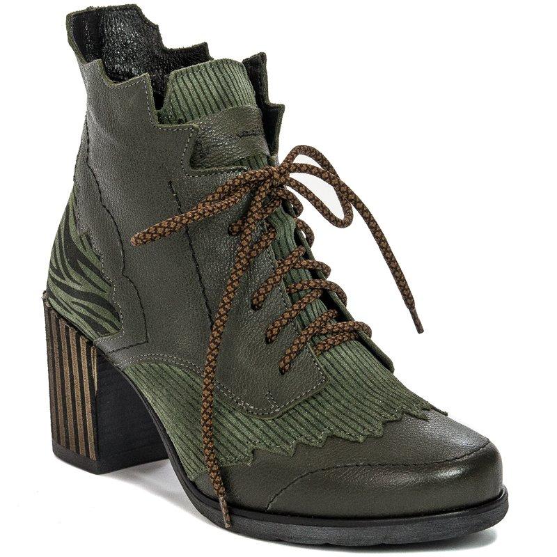 buty botki maciejka zielone