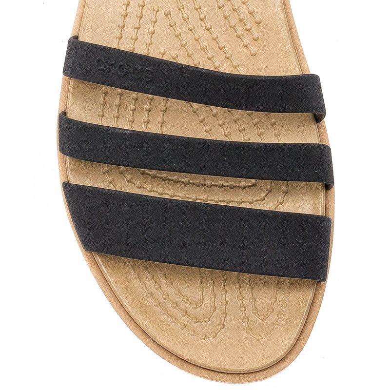 Sandały Crocs 206109 00W BlackTan Czarne