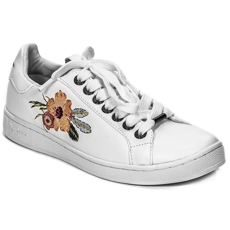 low priced a7dd5 8c019 Pepe Jeans PLS30736 800 White Flat Shoes